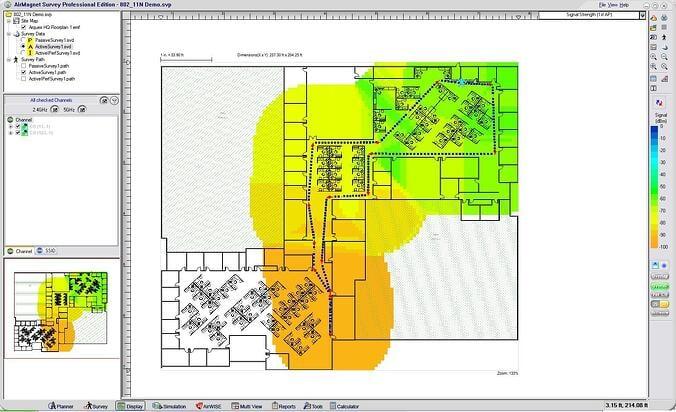 LAN Site Survey map