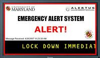 school digital signage emergency message