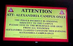 Digital signage campus alert
