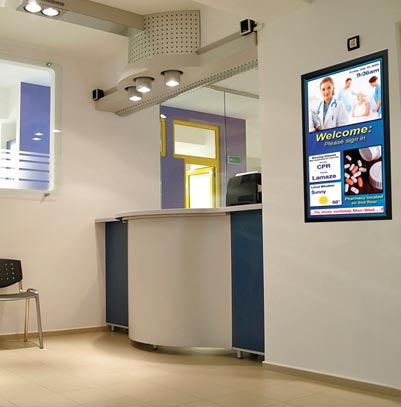 hospital digital signage waiting room