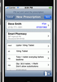 Prescription apps on iPad on hospital wireless network