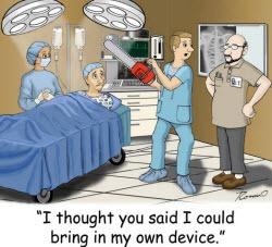 BYOD on hospital wireless networks