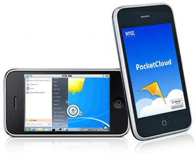 pocketcloud app on enterprise wireless network