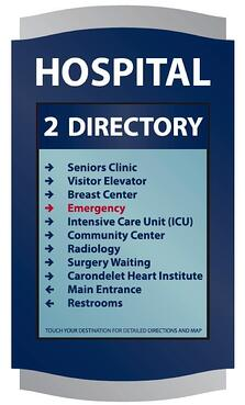 digital signage hospital