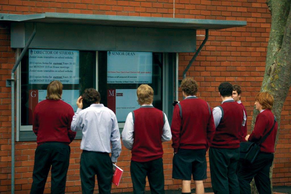 digital signage school