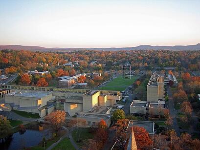 students walking around large campus, campus wifi,
