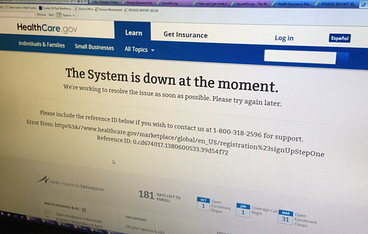 healthcare.gov website fail