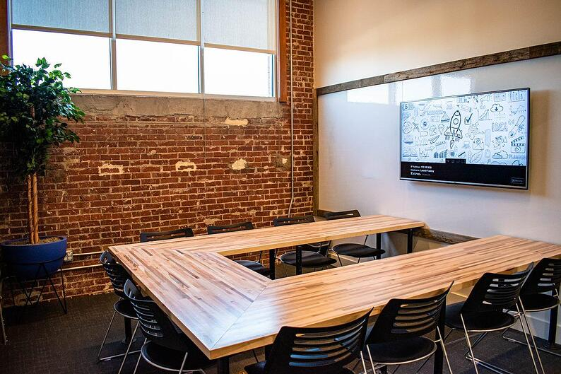 coworking meeting room at the launch factory charlotte