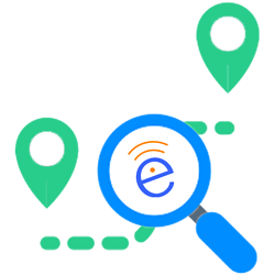Contact Tracing Icon with SecurEdge E Logo