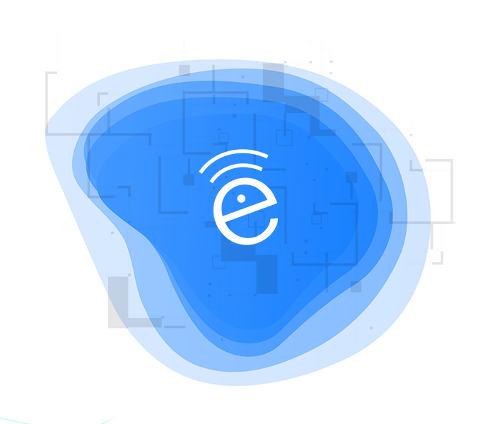SecurEdge WiFi design with blue RF waves logo