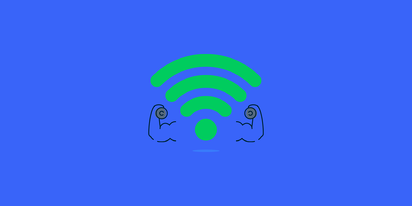 strong wifi signal lifting weights