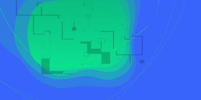 illustration of a wifi site survey RF heat map