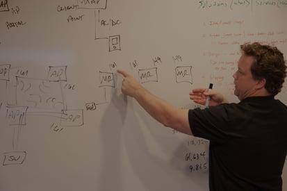 WLAN Engineer explaining wireless site surveys