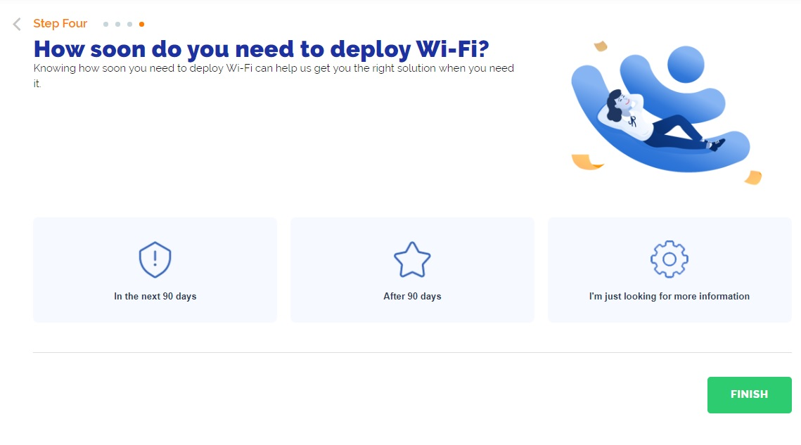 WiFi as a Service Quoting Tool Step 4 Time frame