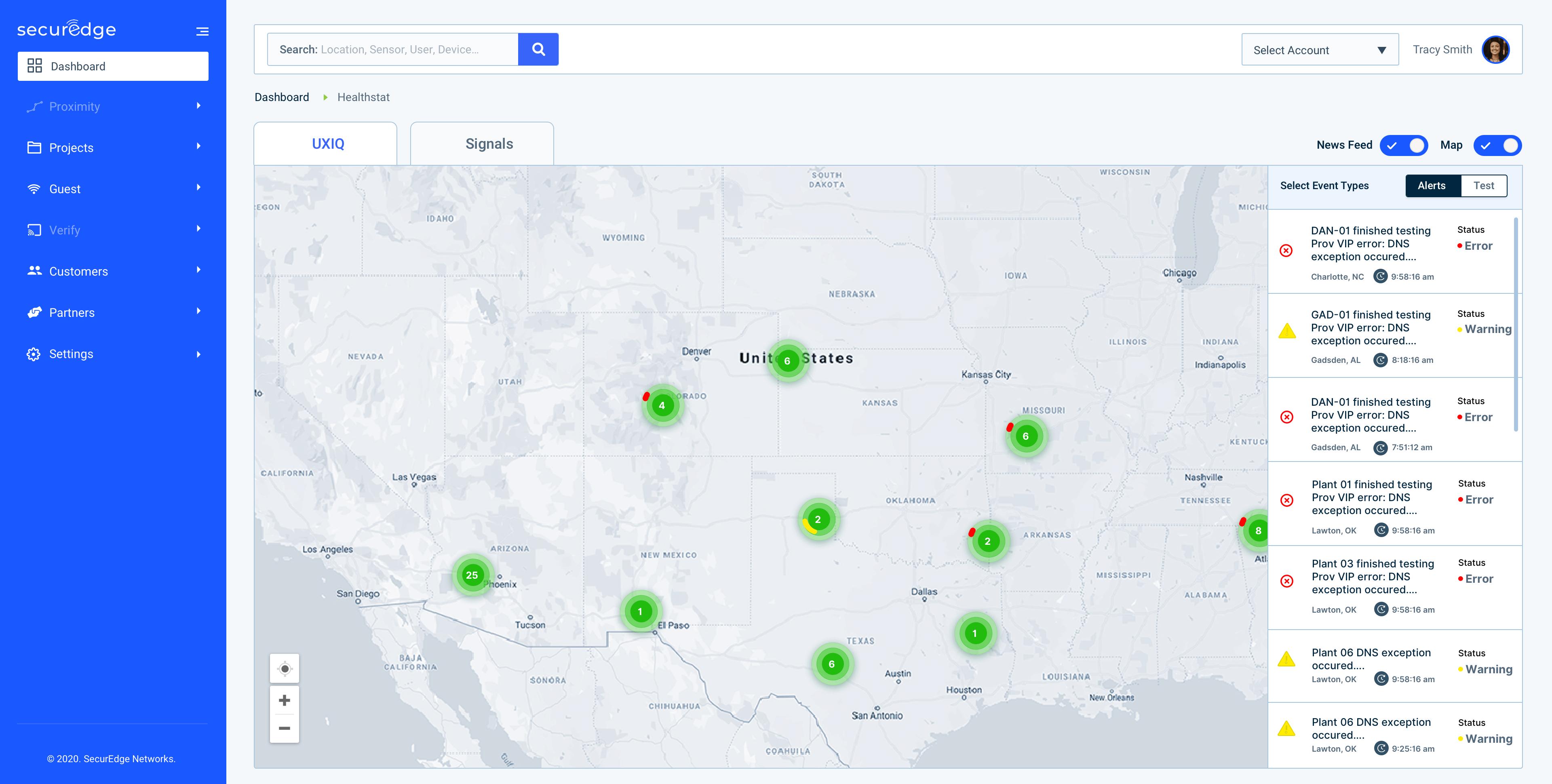 UXiQ (user experience iQ) main dashboard